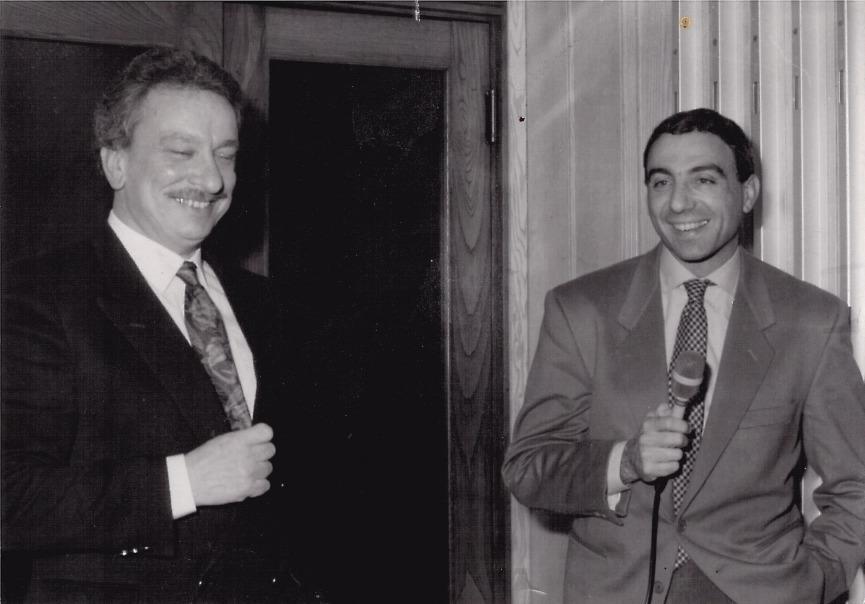 Mario Garavaglia con Michele Alboreto